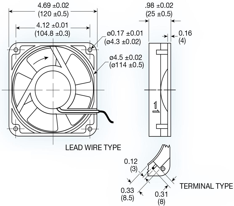 Uf12b Series Ac Axial Fan Mechatronics Inc