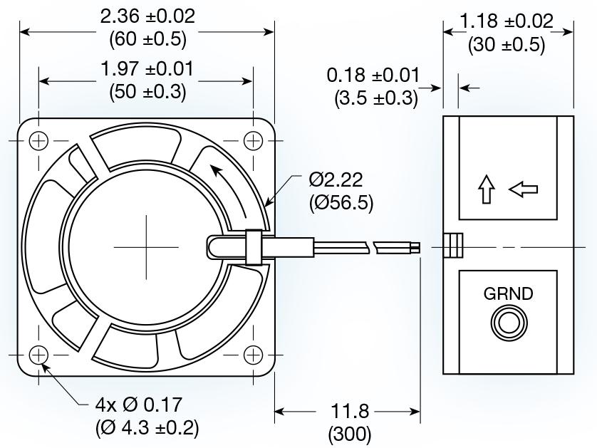 Uf60d Series Ac Axial Fan Mechatronics Inc